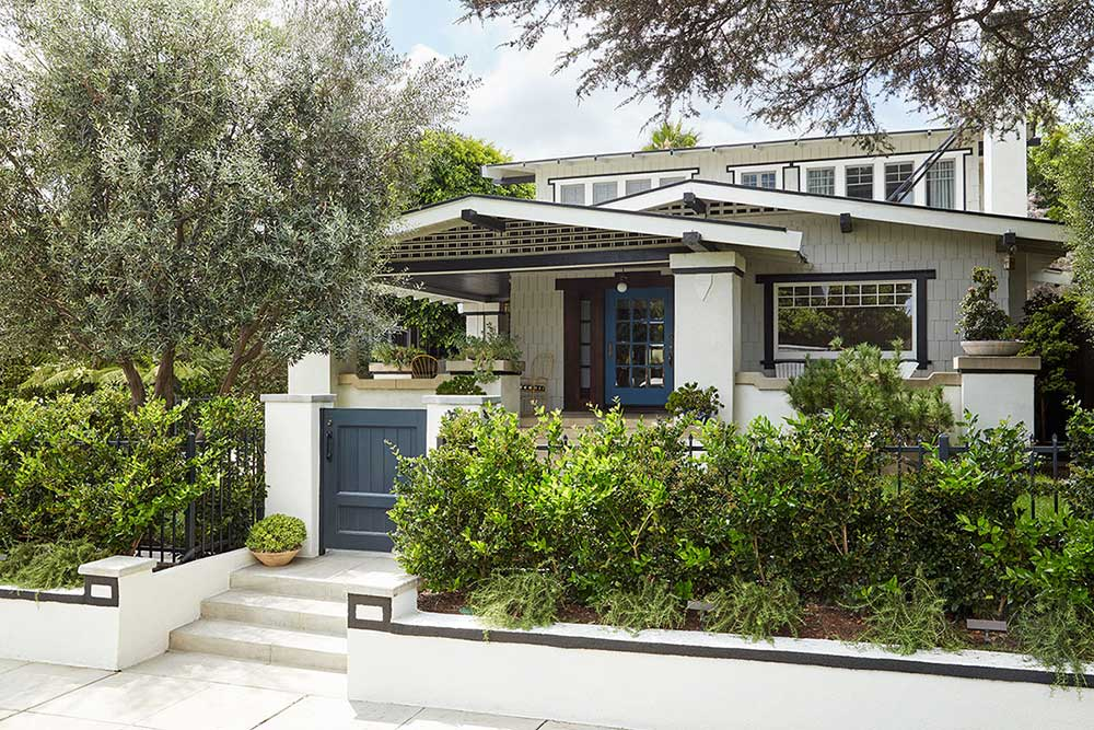 A Mid-Century Modern Craftsman Bungalow in West Hollywood renovated by Los Angeles architects Tim Barber Ltd. and interior designers Nickey Kehoe.
