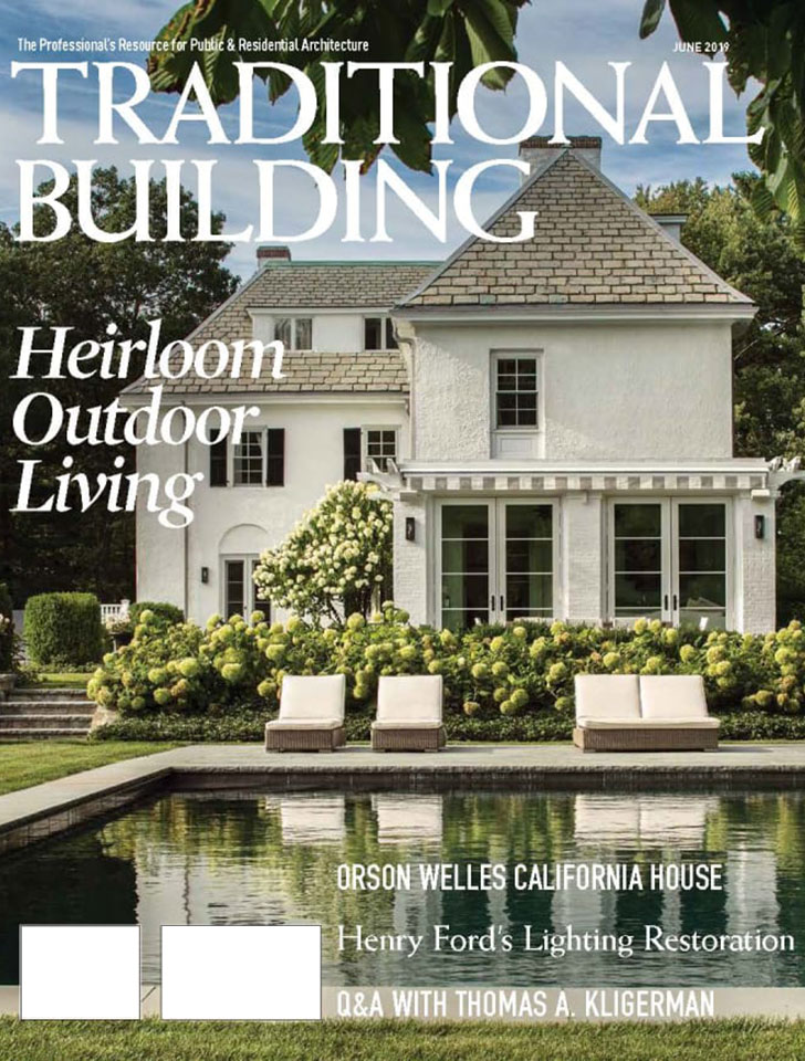 Traditional Building Magazine featured our renovation of Orson Welles's Hollywood home in their June 2019 issue.