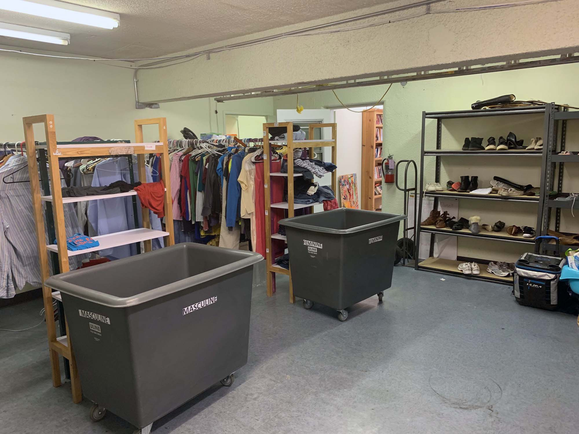 The existing clothing shop at MFP, prior to installation day.