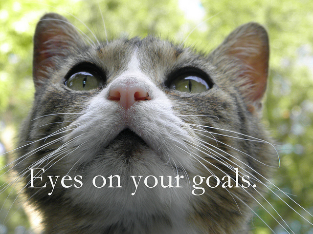 Your personal trainer in Portland wants you to keep your eyes on the goal!