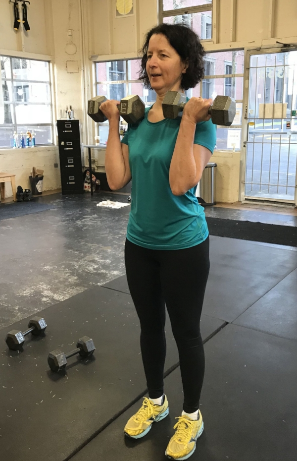 Cheryl getting some sweet biceps here at TFW Portland