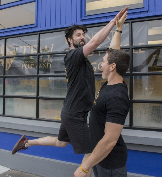 Hi-fives, the most important exercise at TFW