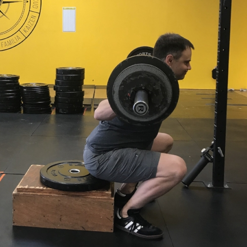 Warrior Nate with a sweet squat at Training for Warriors Portland