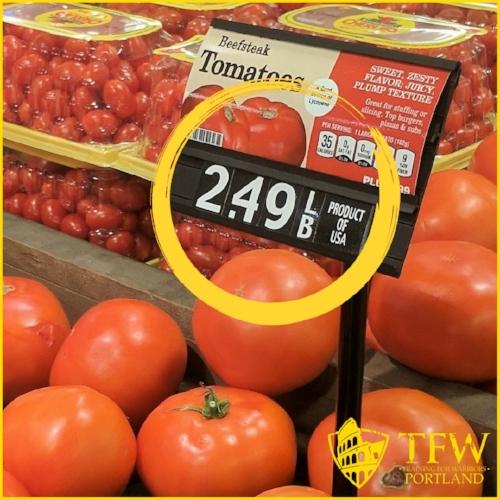 Price per pound- nutrition on a budget TFW Portland
