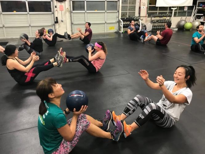 Fun partner workout at TFW Portland