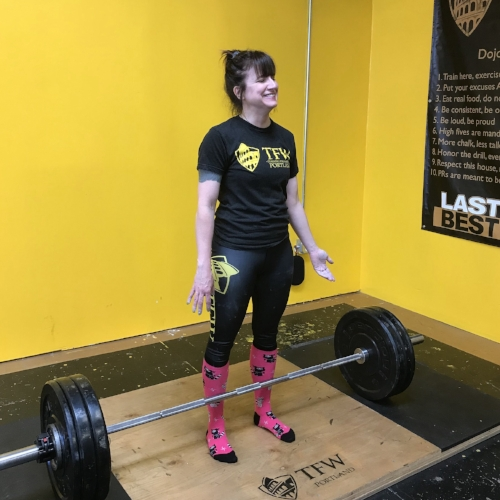 Reduce your stress and anxiety by ripping weight off the floor! TFW Portland