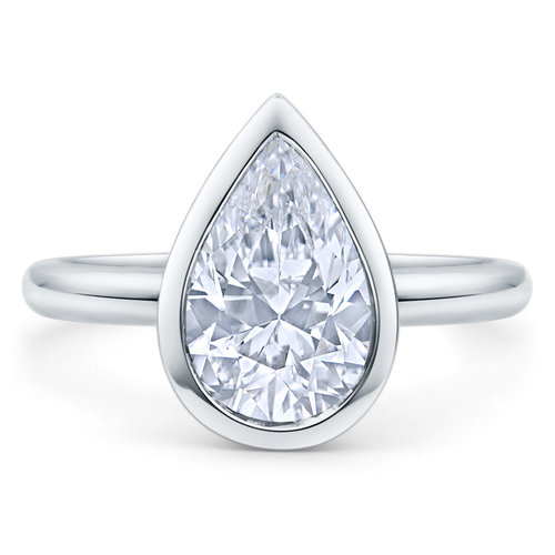 Custom Pear Shaped Engagement Ring Los Angeles