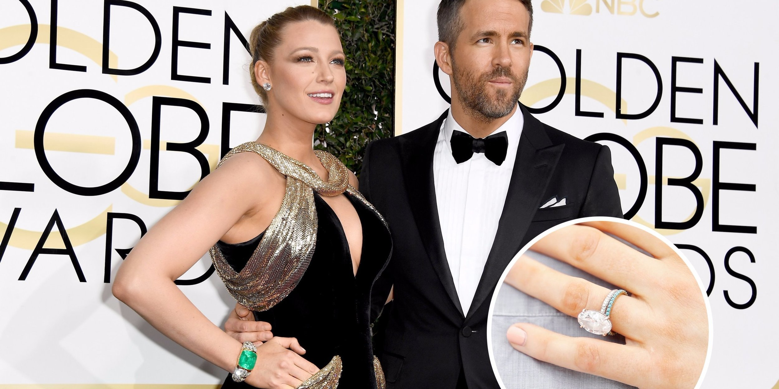 Blake Lively - Ryan Reynolds and Blake Lively also decided on an Oval Diamond for their engagement ring. Her diamond is set in a delicate three-row micro pave band with tiger claw prongs. This design has become a popular reference for many new couples beginning the process of creating a custom designed engagement ring.