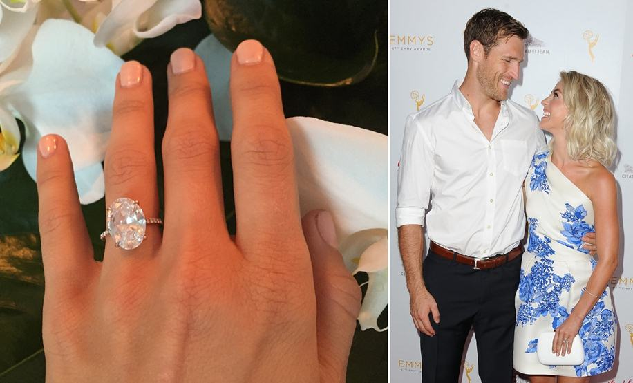 Julianne Hough - Julianne Hough and Brooks Laich recently got engaged with an Oval Diamond for the center stone of their engagement ring. They designed their Solitaire ring with a classic pave accented band. This style has also been very popular for many couples this engagement season.