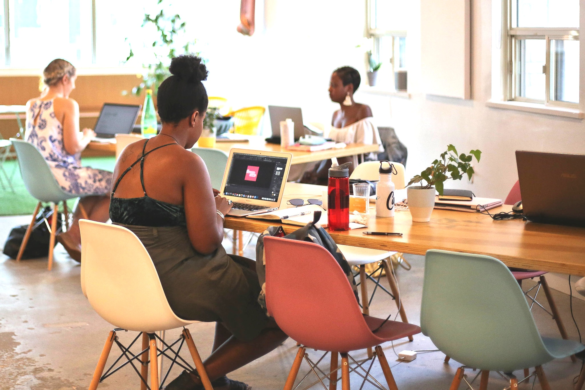 group of women coworking