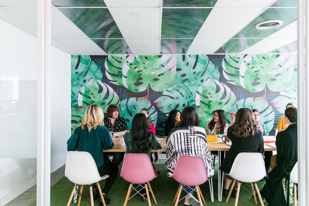 Bright meeting room