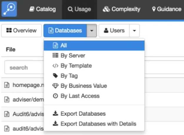 Fig. 1 displays the capability of exporting data from Adviser to a CSV file.