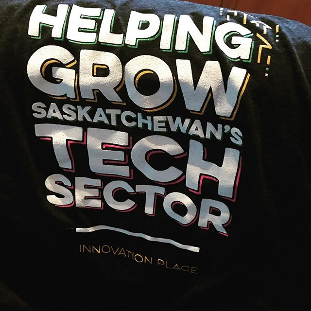 Love my new T-Shirt from #startupvillepodcast and @innovationplace #sktech #womenintech #innovation