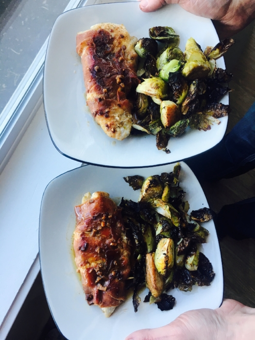 We served ours with roasted brussels sprouts