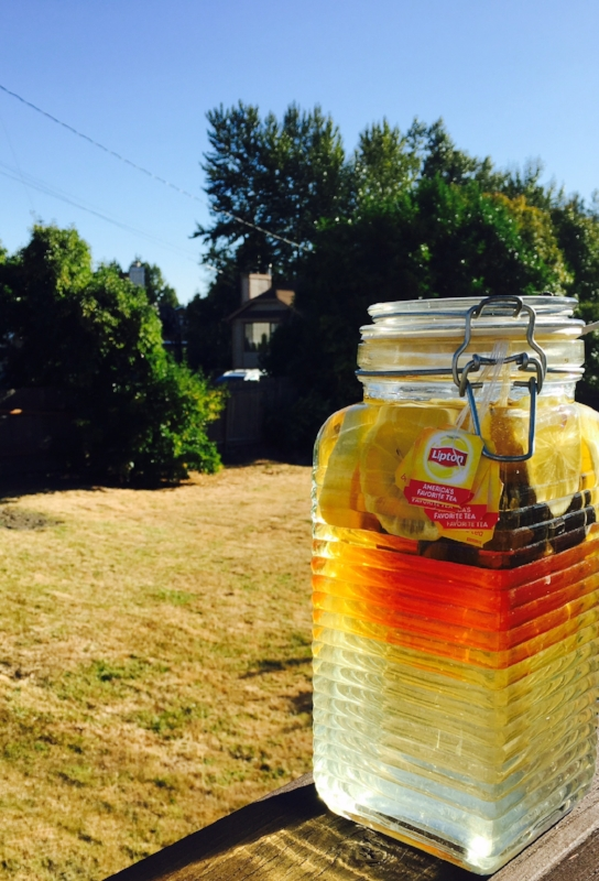 Sun Tea when it's just starting to brew