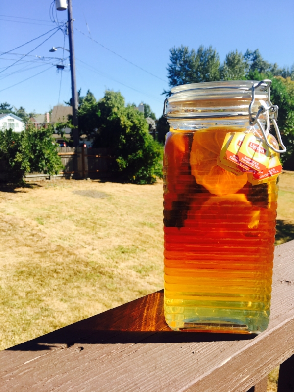 Sun Tea when it's just about perfect!