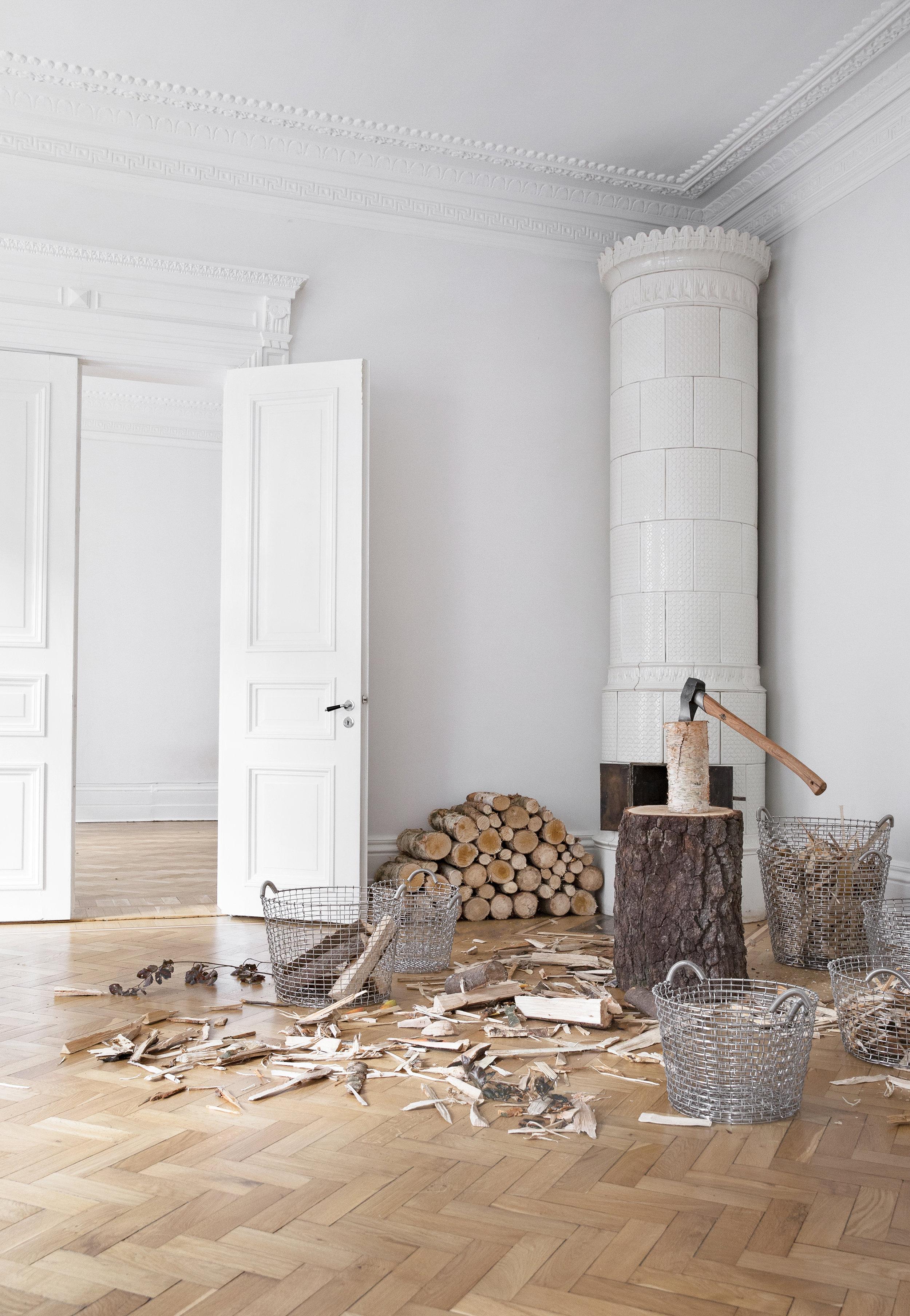Fireplace and log basket inspiration