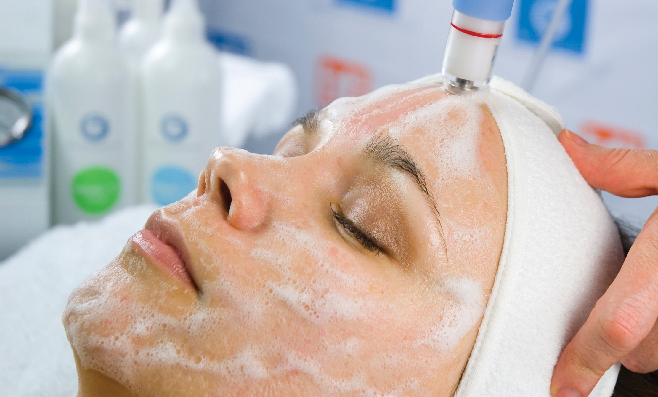 Microdermabrasion techniques have been used for thousands of years. Ancient Egyptians even used special types of sand paper to resurface the skin. As a result of this long lineage of knowledge, skin abrasion systems have vastly improved over the years. The first microdermabrasion machine was developed in 1985, and has since become one of the most popular forms of skin care treatments.       The goal of microdermabrasion is to mechanically slough away the outermost layer of skin. In turn, skin cells are rejuvenated to reveal a brighter, healthier complexion. The newest form of microdermabrasion is the Wet/Dry Microdermabrasion system: Bio-Brasion.       Bio-Brasion is one of the most effective forms of skin exfoliation systems on the market. The Bio-Brasion machine is equipped with five diamond tips. Each tip varies in coarseness. This allows for custom exfoliation according to skin type. Combined with a chemical exfoliant, a diamond tip is passed across the face three times. A gentle suction during this process helps to remove impurities and increase blood flow to the epidermis, encouraging skin cell turnover and collagen production. The Bio-Brasion system is designed for all skin types, including sensitive. Hyper pigmentation, fine lines and wrinkles, enlarged pores, and congested skin will benefit beautifully from the Bio-Brasion Treatment.  Check out this article showcasing Bio-Brasion!        Bio-Brasion is used in our Bio-Brasion w/ Aquafuse Facial. It is recommended to receive Bio-Brasion Treatments on a monthly basis.  Click here to learn more about pricing information!