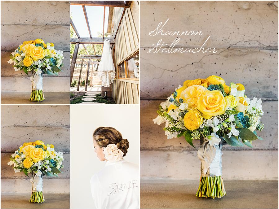 Yellow bridal Bouquet Napa