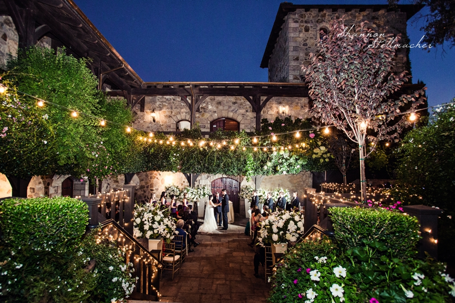 October Evening Ceremony at V. Sattui Winery