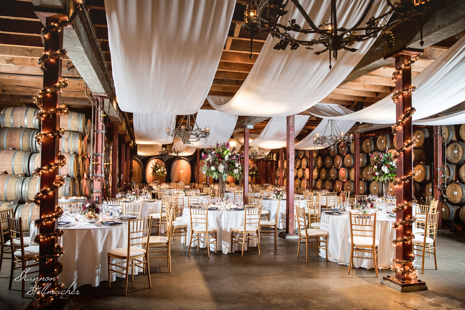 Winery Wedding Napa Barrel Room
