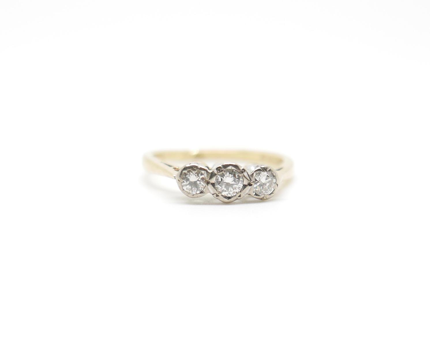 Vintage Diamond Trilogy Ring