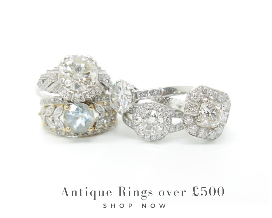 antique and vintage rings over £500