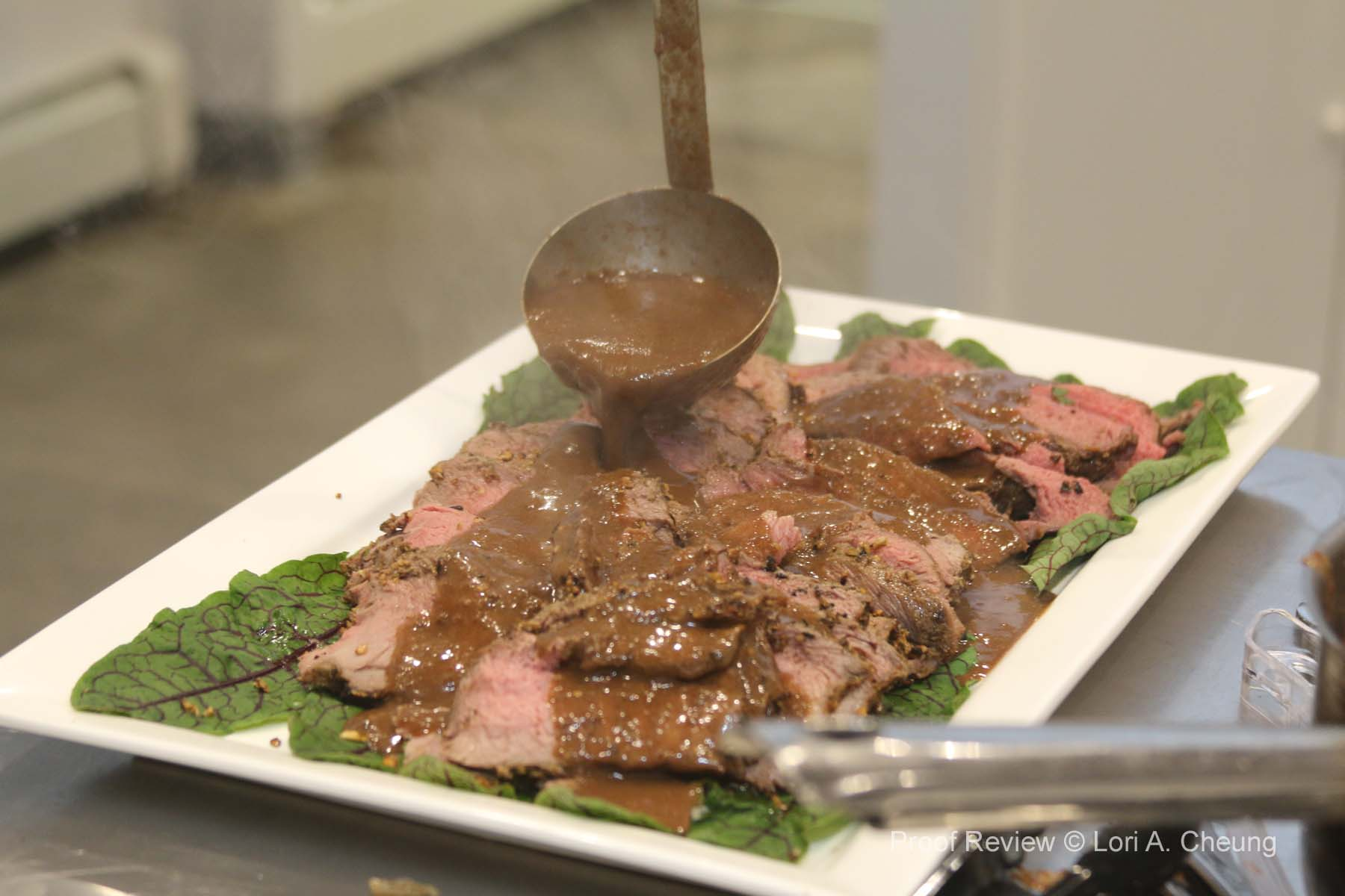 Bison Tri tip with Madrone and Acorn Sauce