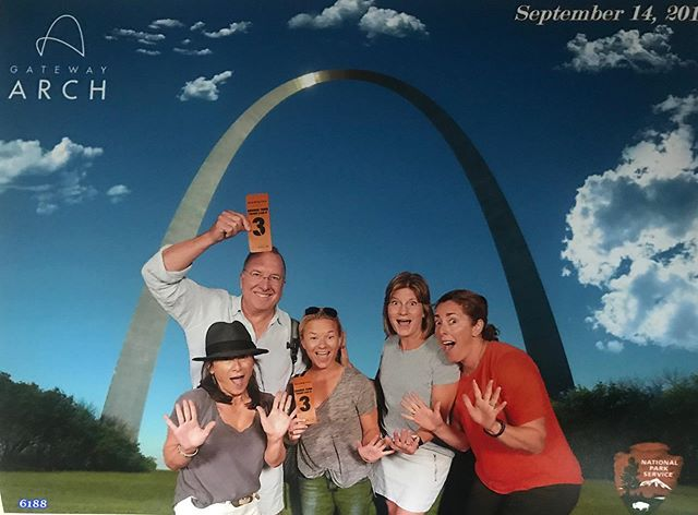 The Arch ✔️ Taking in St. Louis this weekend🎉🎉🎉 #StLouis #JazzHands