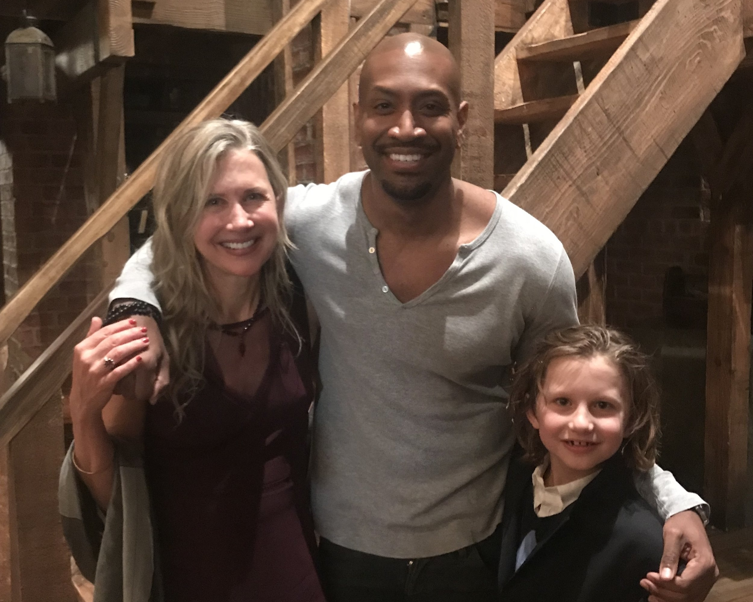 Pamela with former student Bryan Terrell Clark, currently starring as George Washington in Hamilton on Broadway