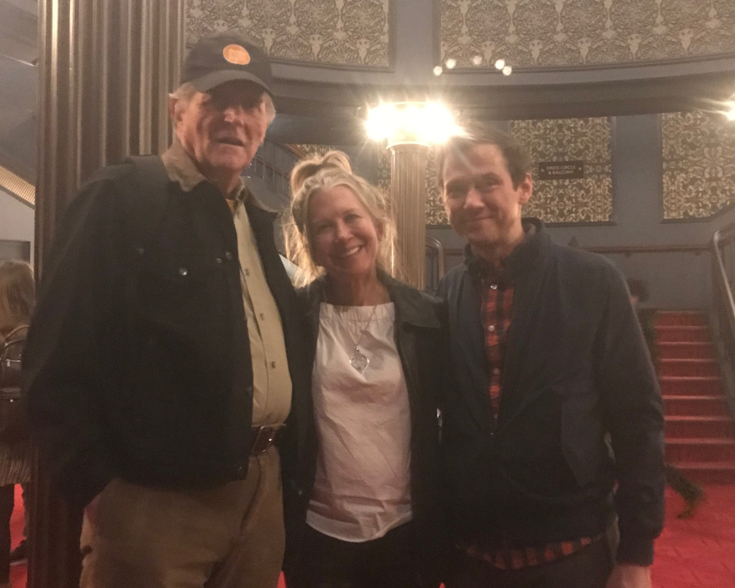 Pamela with client Stephen Bradbury and former student Richard Gallagher in   Harry Potter and the Cursed Child   on Broadway