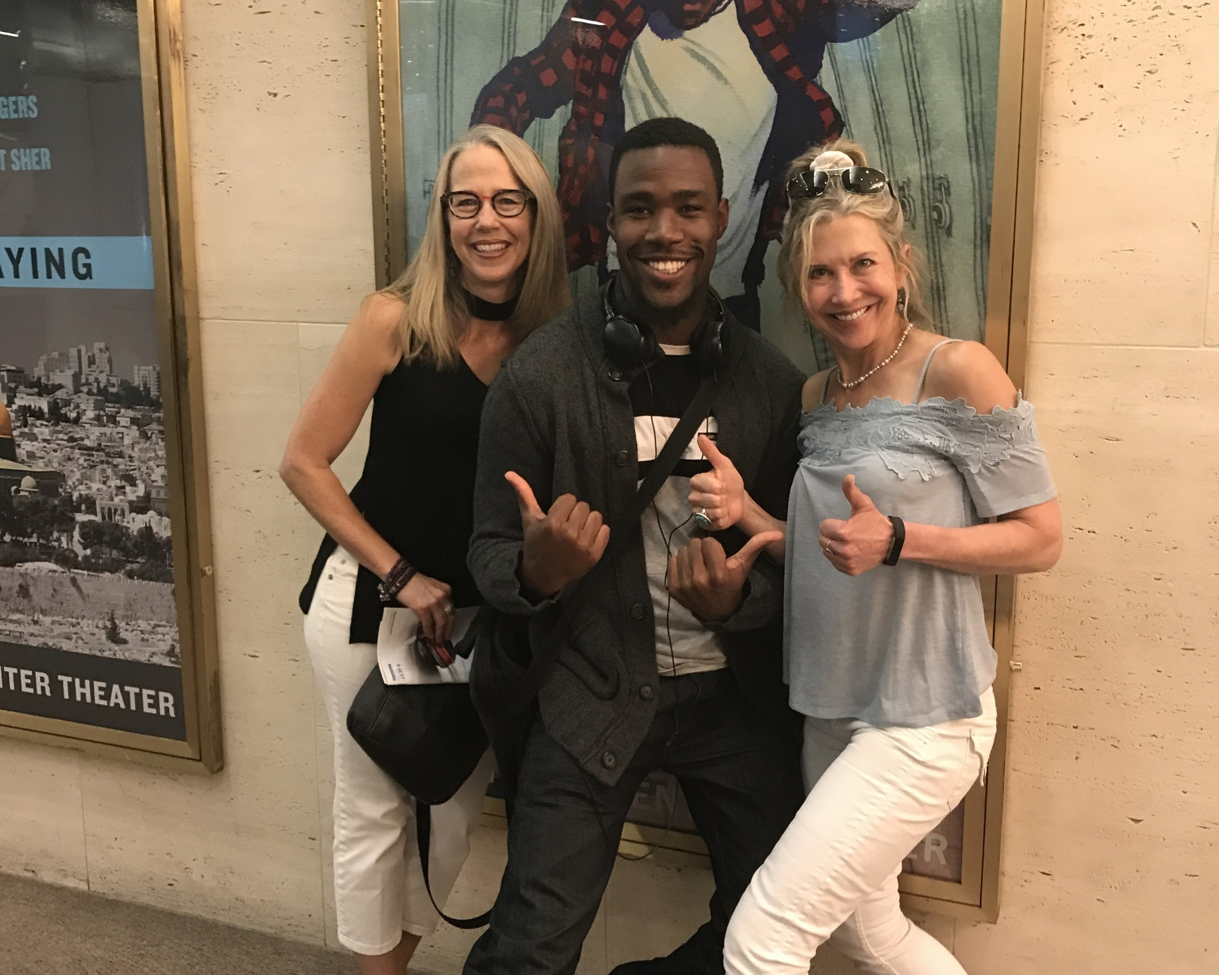 Pamela with former student Chaundre Hall-Broomfeld currently playing    James Madison    in the first national tour of   Hamilton