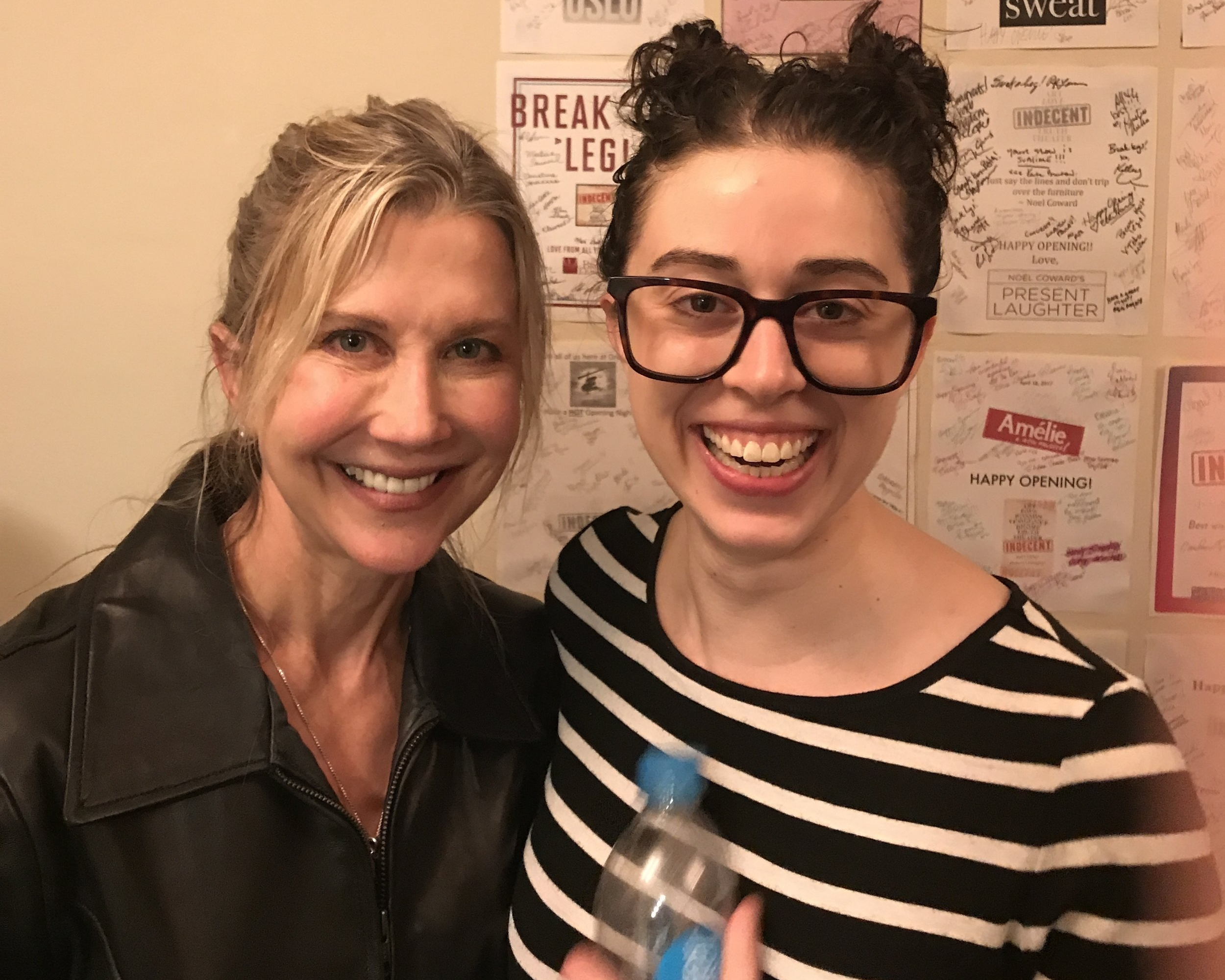 Pamela with former student Adina Verson in the Broadway production of    Indecent