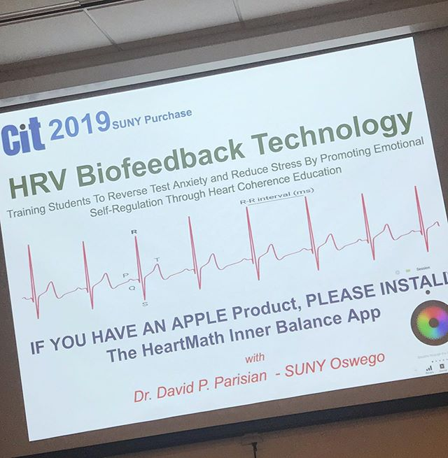 Cool workshop!  Looking forward to learning more about how to keep validating the work I do!! #biofeedback #hrvbiofeedback #scienceandthevoice #learnsomethingnew