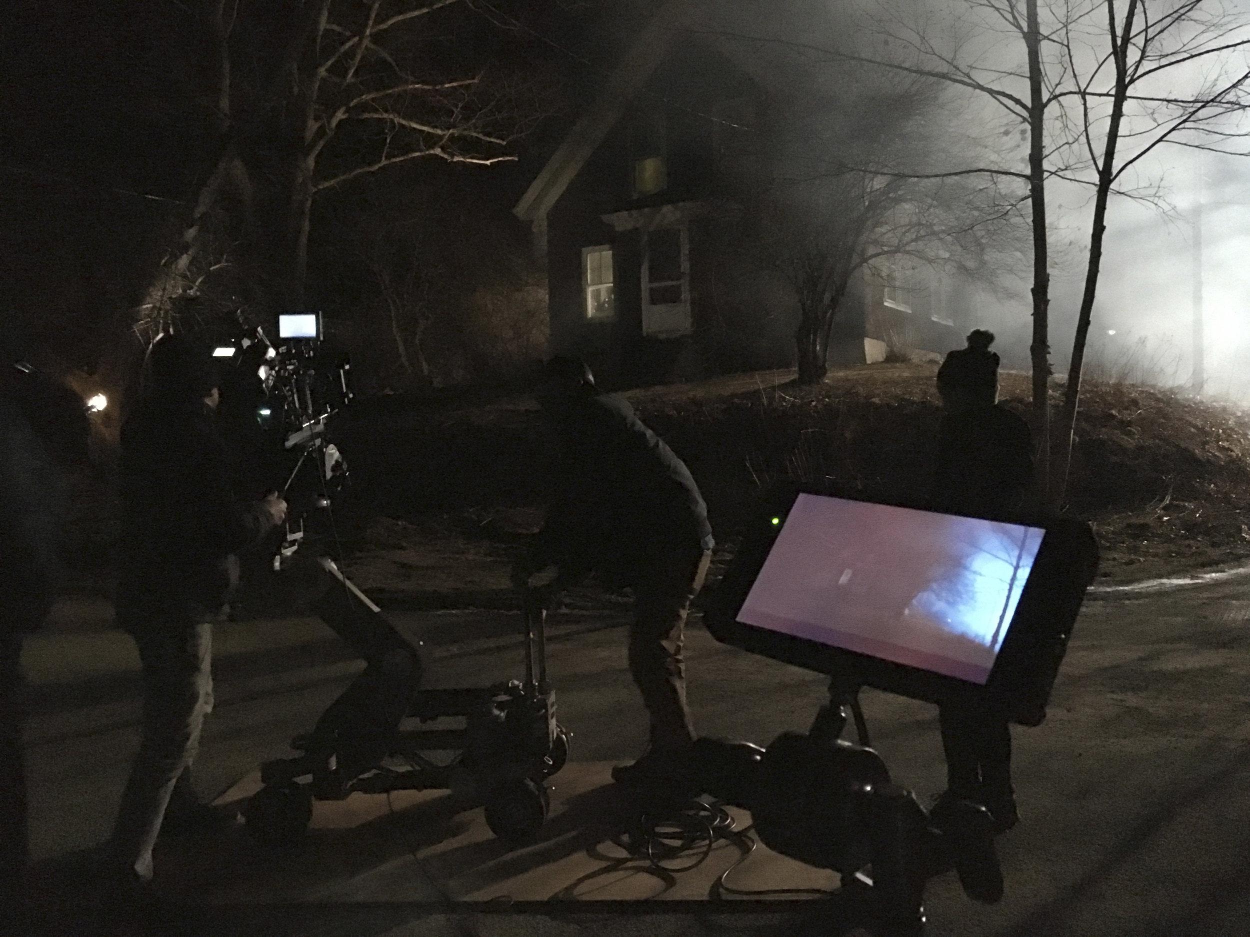 DP Mark Farney shoots a night scene in Camden
