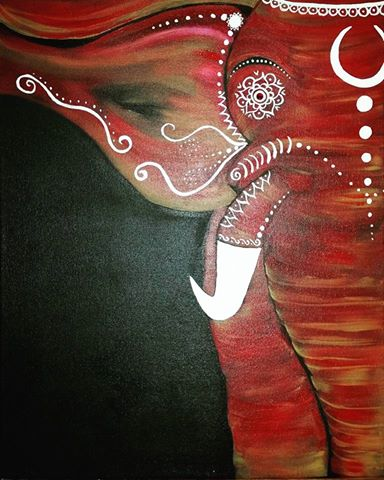 Painted Elephant 2