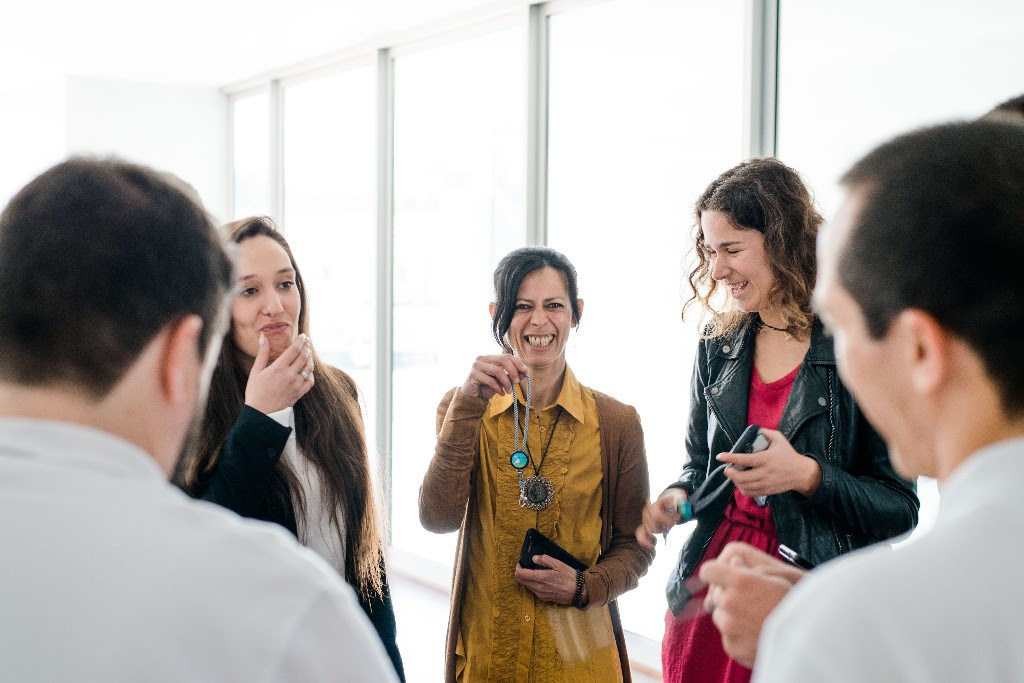 Contestants share a fun moment before the competition. All participants were able to develop friendships and special bonds throughout the four-month process.