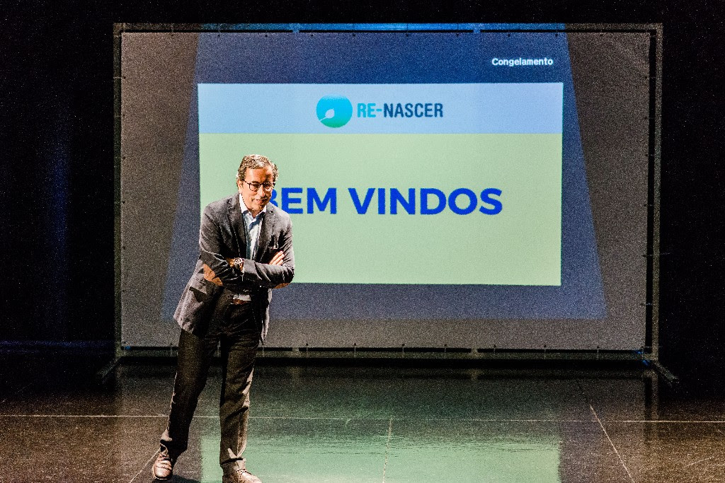 Paulo Barradas, CEO and founder of Blue Pharma, a major Portuguese pharmaceutical company, gives a workshop the morning of the final day of the competition.