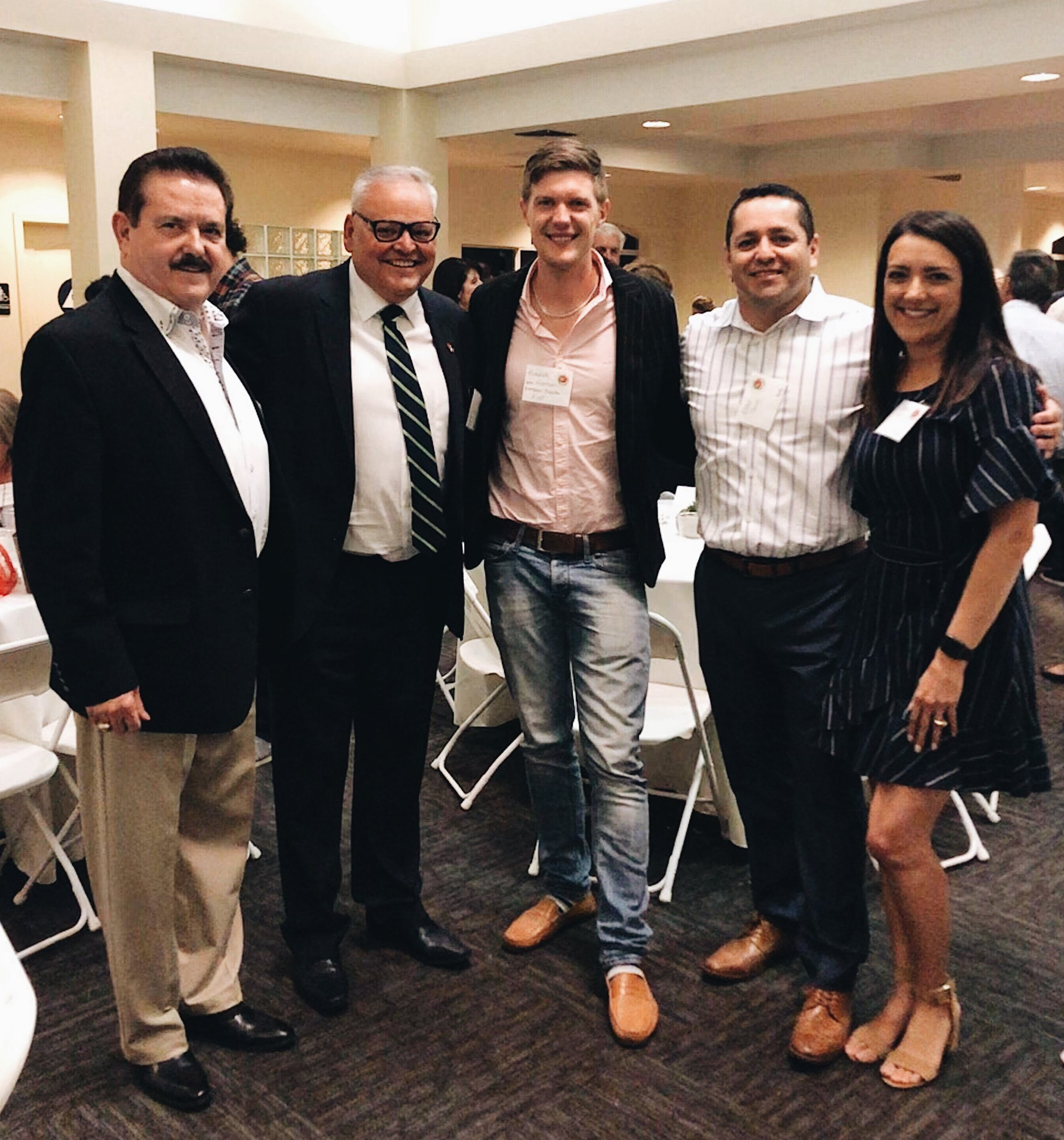 Sr.  Diniz Borges, the Honorary Consul of Portugal to California is pictured  here with Frank Serpa (far left), Hendrik Von Niessen (FoP Europe  Director), and Eddie & Susie Perez (FoP collaborators)  .