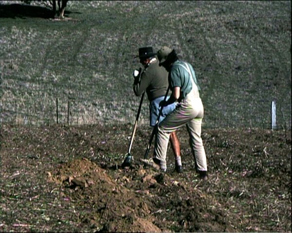Planting vines is a generational matter. Stephen and his father Roy planting Chardonnay in 1984