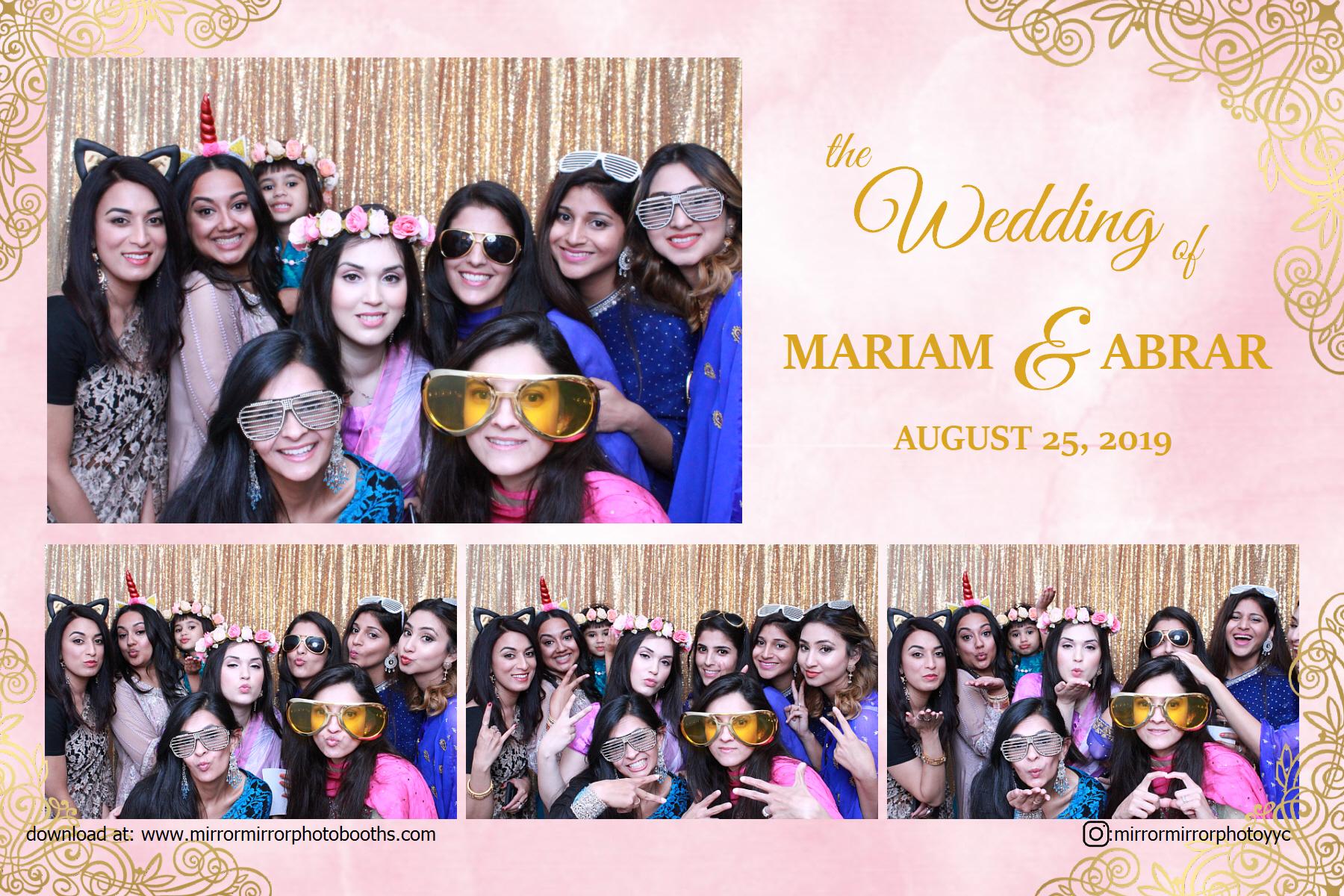 Mariam and Abrar's Wedding - Aug 25, 2019