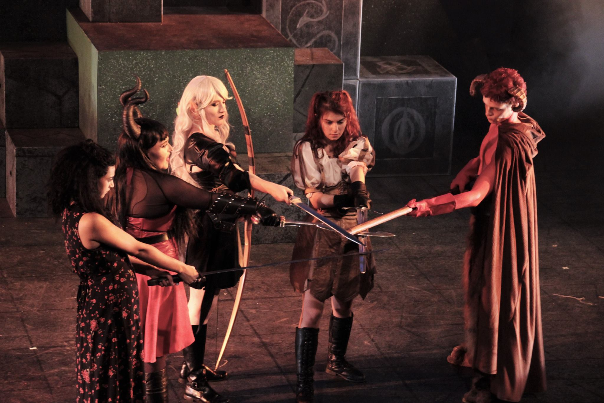 Victoria as Kaliope Darkwalker in Rider University's production of  She Kills Monsters.