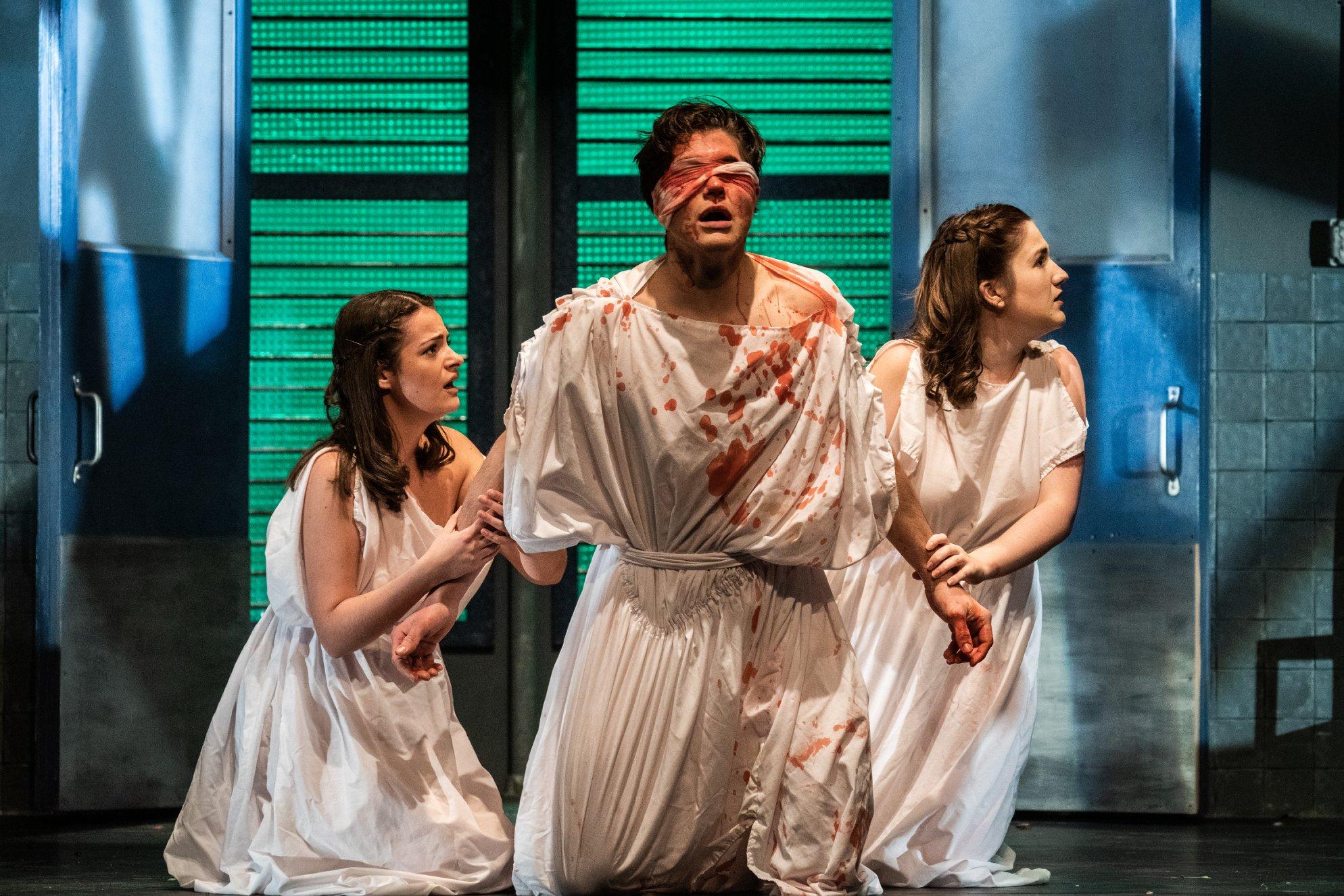 Victoria as Antigone in Sean Graney's  These Seven Sicknesses.