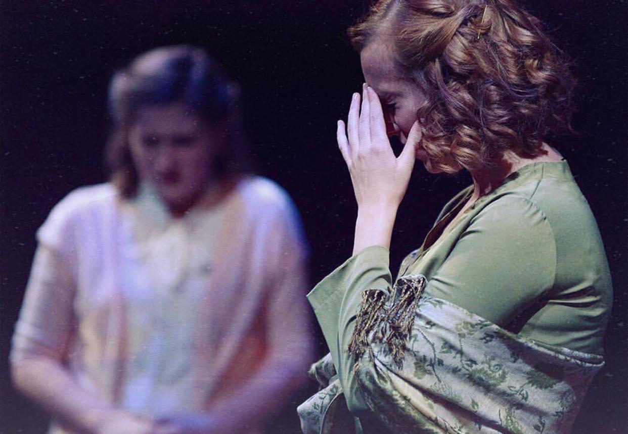 Victoria as Rachel Brown in  Inherit the Wind  at Rider University.