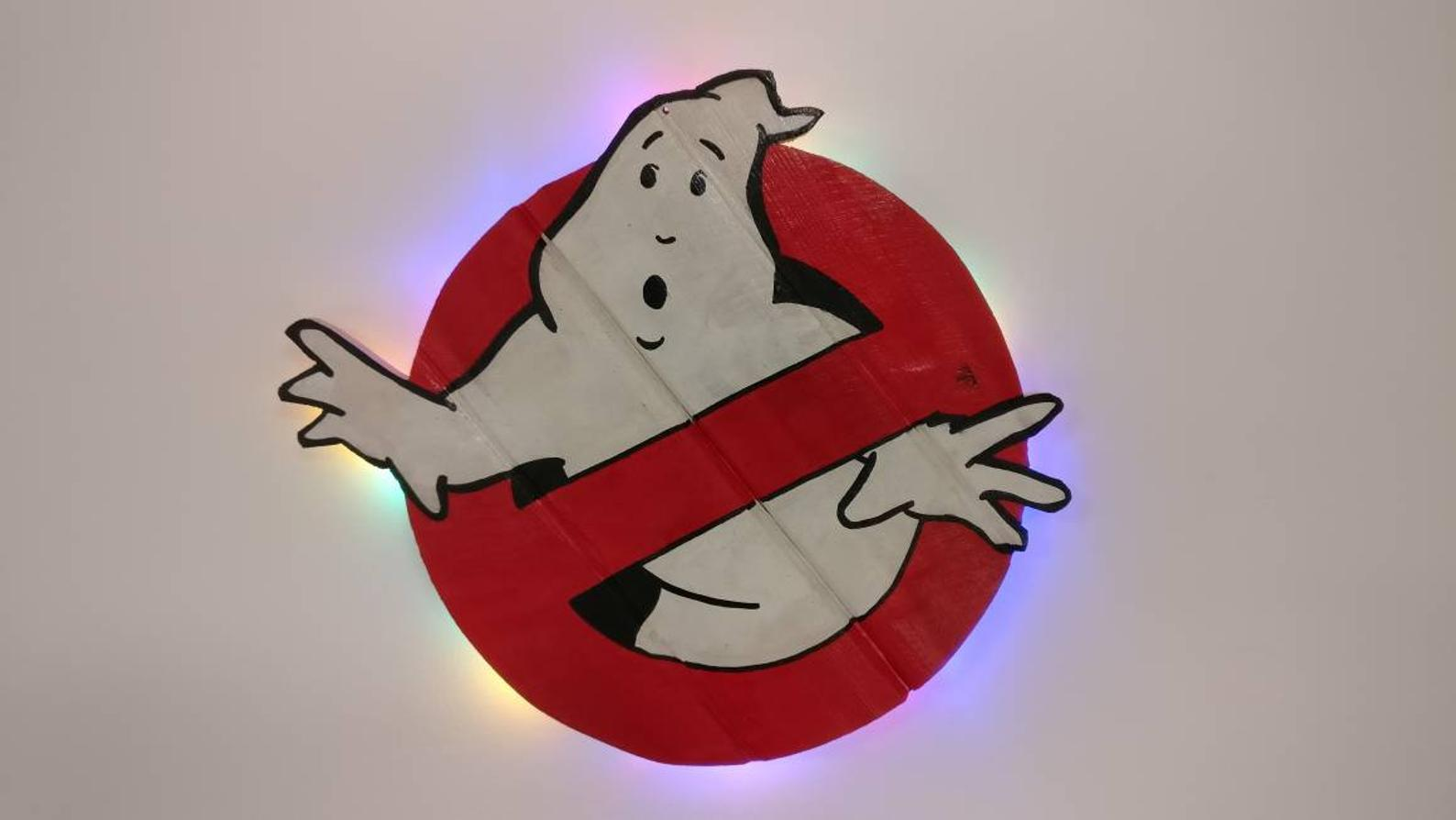 Ghostbusters Sign with LED Lights