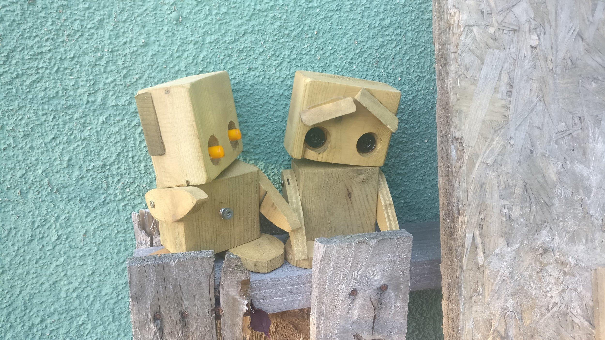 Scrap Robots having a chat