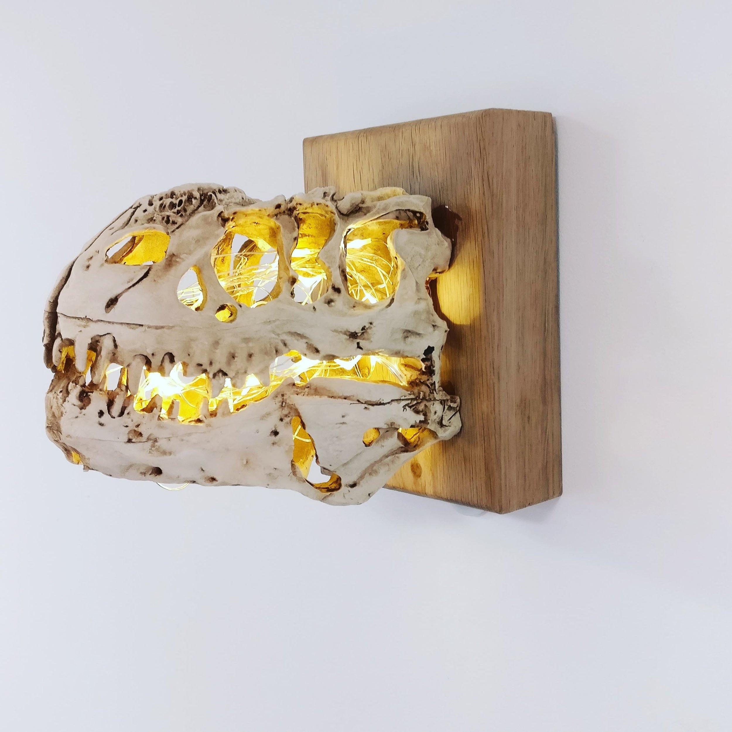 Dinosaur Skull Sconce