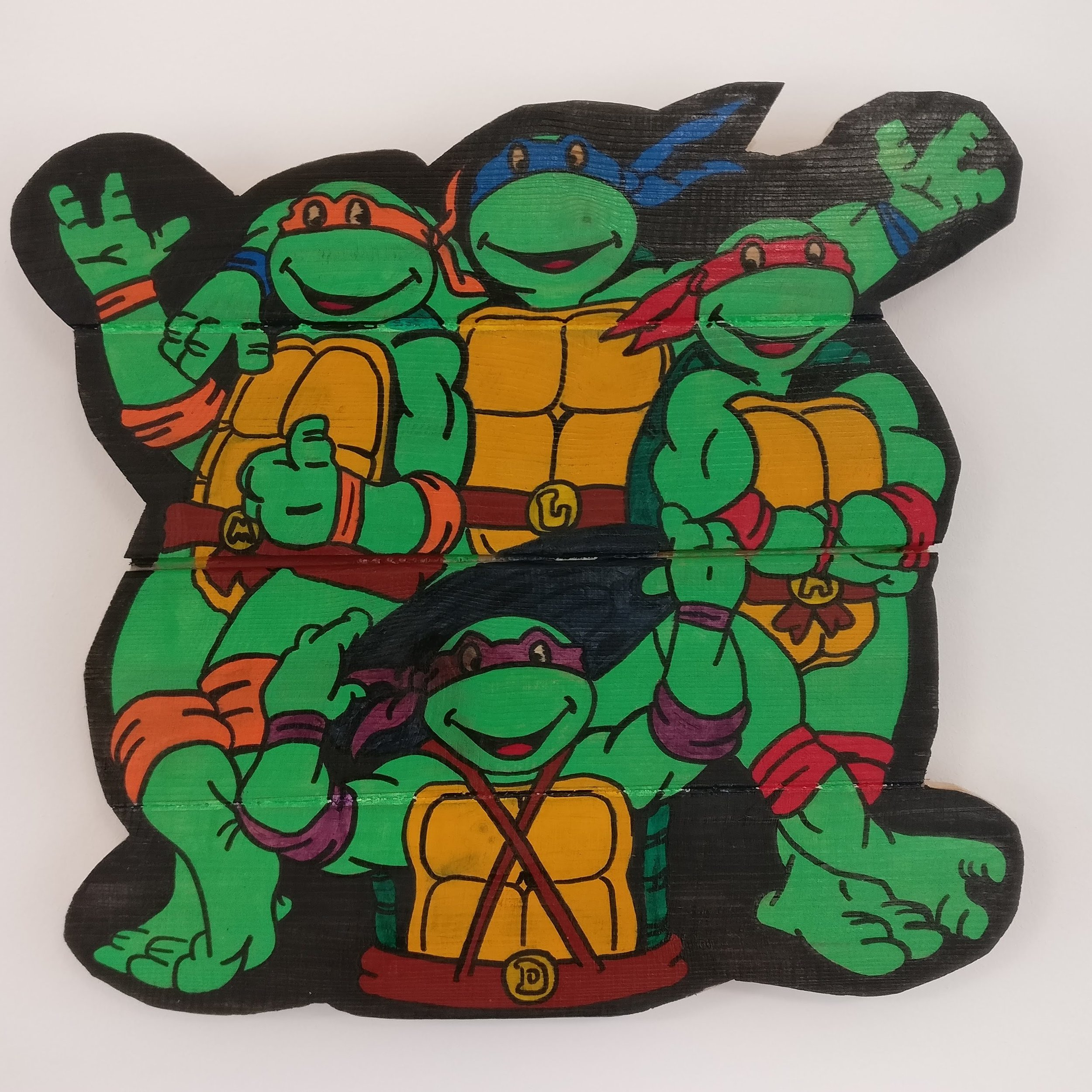 Teenage Mutant Ninja Turtles Painted Wall Hanging