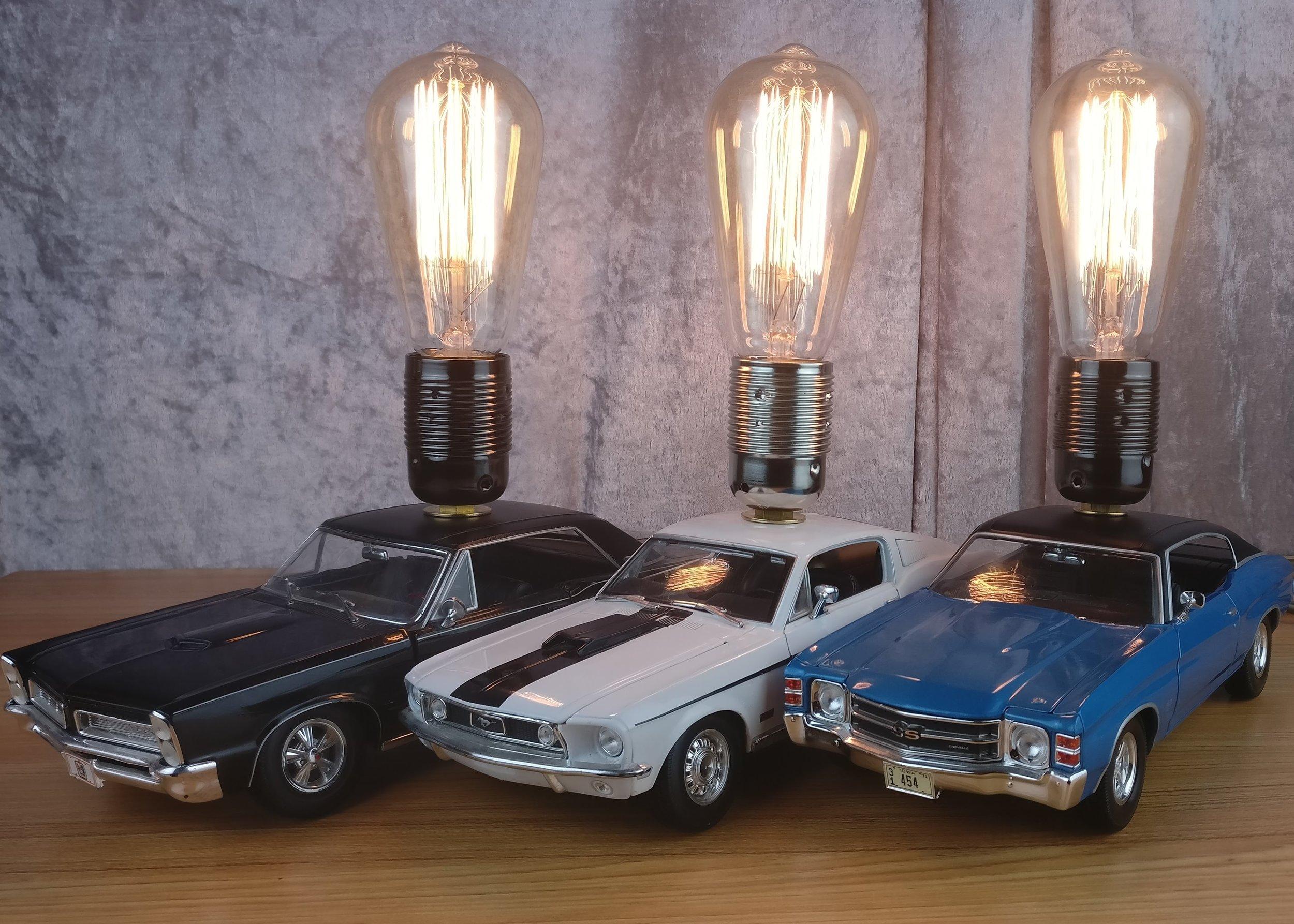 Die Cast Muscle Car Lamps