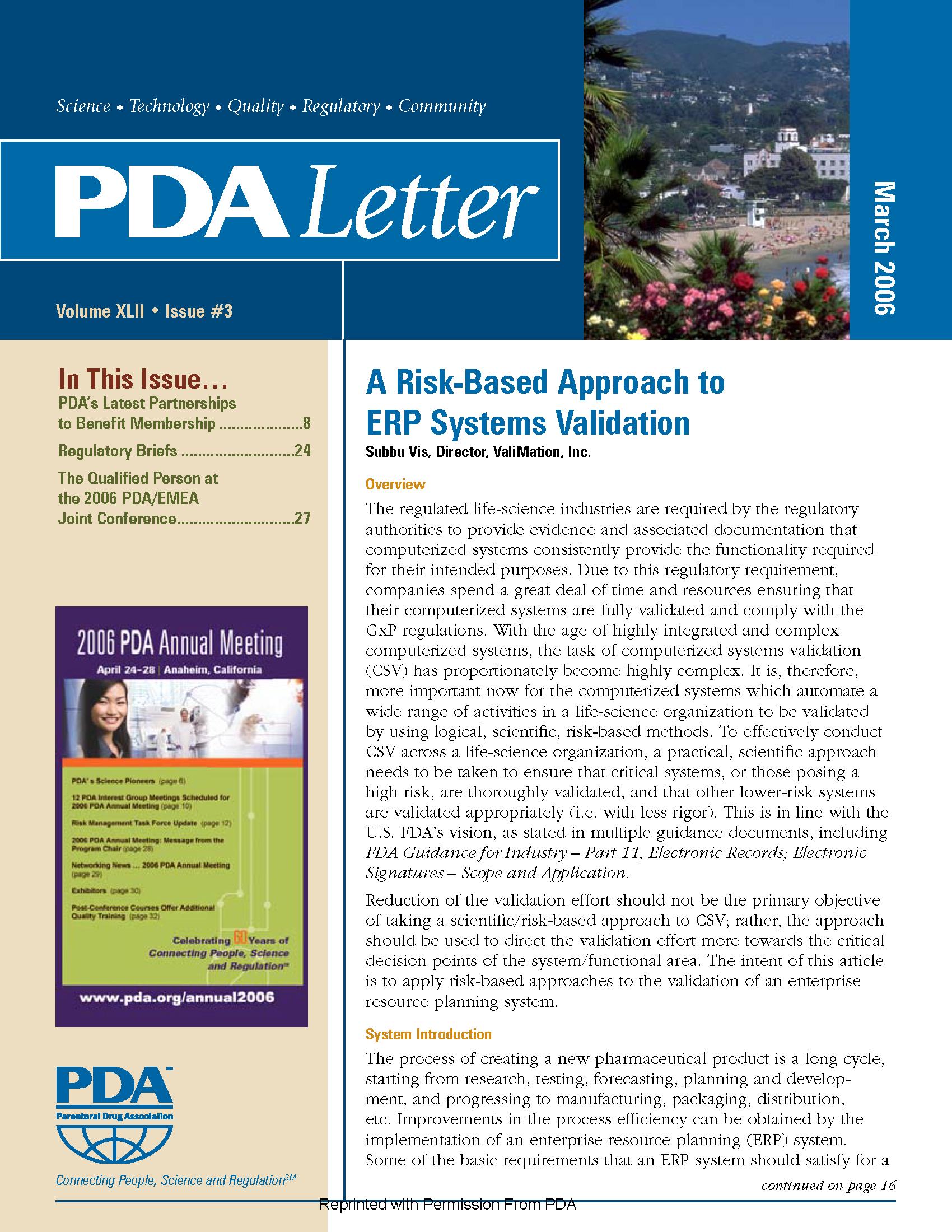 PDA Letter - ValiMation - ERP Validation - Risk Management Article_Page_1.png